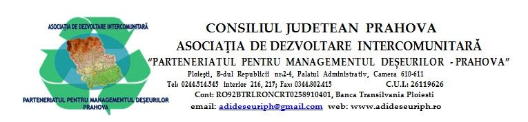 Asociatia de Dezvoltare Intercomunitara Parteneriatul pentru Managementul Deseurilor - Prahova