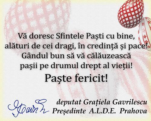 Gratiela Gavrilescu - paste 2019