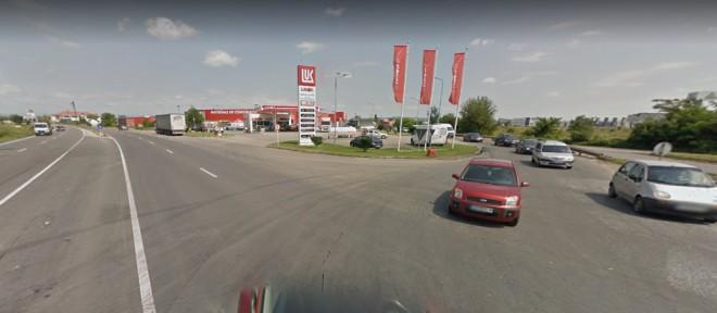 A inceput constructia giratoriului pe DN1, la iesirea din Ploiesti spre Brasov (zona benzinariei Lukoil)