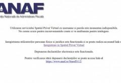 Spațiul Privat Virtual al ANAF nu funcționează. E a doua zi in care platforma e picata