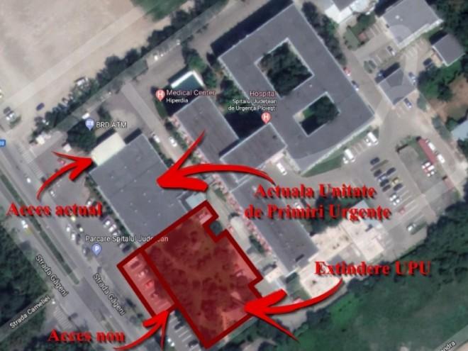 Se extinde Spitalul Judetean din Ploiesti. CJ preia un teren de la Primărie, pentru noul acces al ambulanţelor