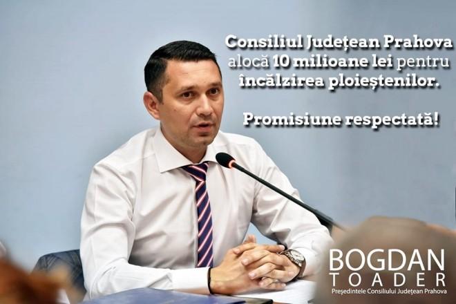 In timp ce Dobre isi bate joc de ploiesteni, CJ Prahova aloca 10 milioane de lei pentru subventionarea gigacaloriei la Ploiesti