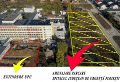 Unde va fi amenajată parcarea pentru pacienții și aparținătorii de la Spitalul Județean de Urgență Ploiești