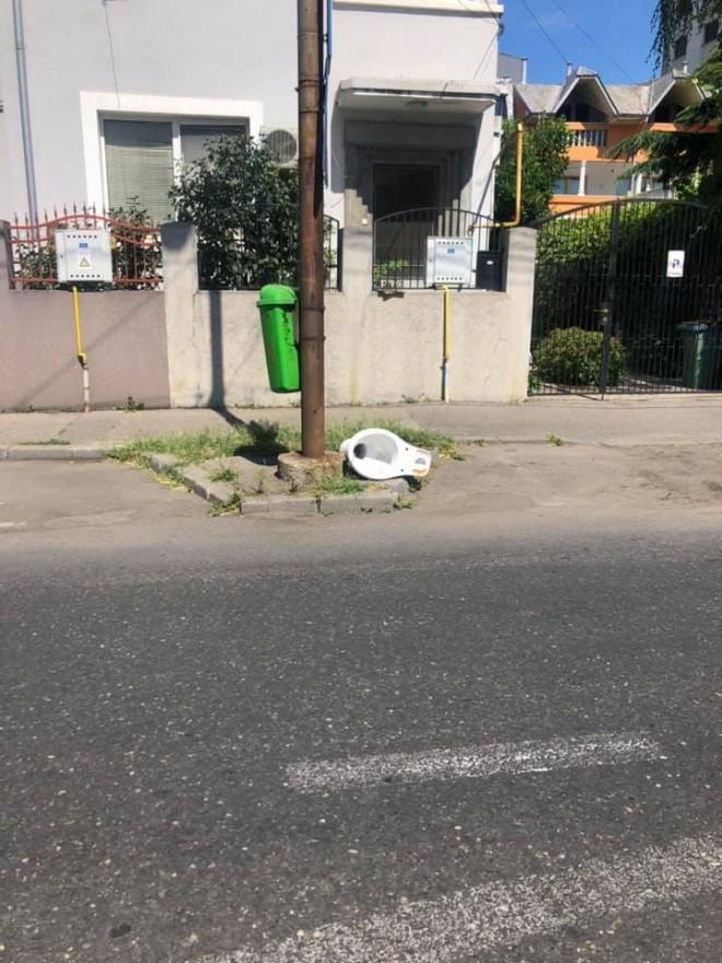 FOTO| Viceprimarul Ganea, în război cu cei care aruncă gunoaie pe domeniul public