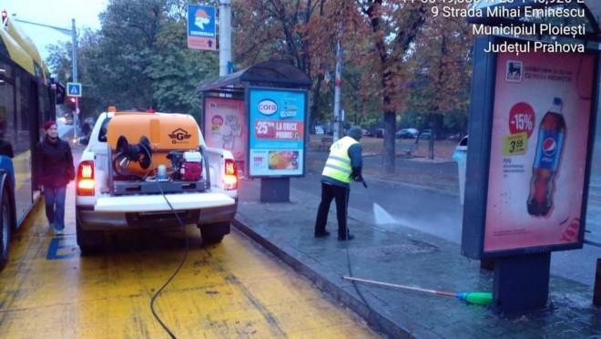Primarul Volosevici a pus la treaba noua firma de salubritate. Statiile de autobuz din Ploiesti vor fi igienizate periodic