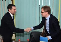 Bogdan Toader s-a întâlnit cu consilierul Ambasadei Franţei în România FOTO