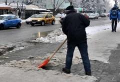 Amenzi usturătoare pentru neîndepărtarea gheţii şi zăpezii, la Ploieşti