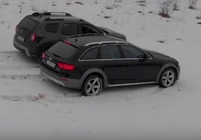 Care e mai tare: 4WD de la Dacia sau quattro de la Audi? Momentul adevărului