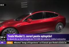 Nebunia Tesla. Cerere peste aşteptări pentru Model 3