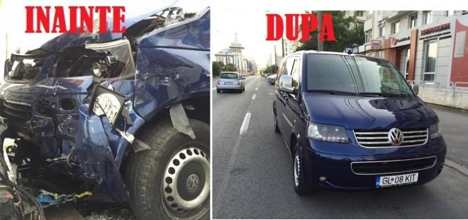 Atentie la samsarii de masini! VW daună totală, REVANDUT de un samsar, în stare perfectă!