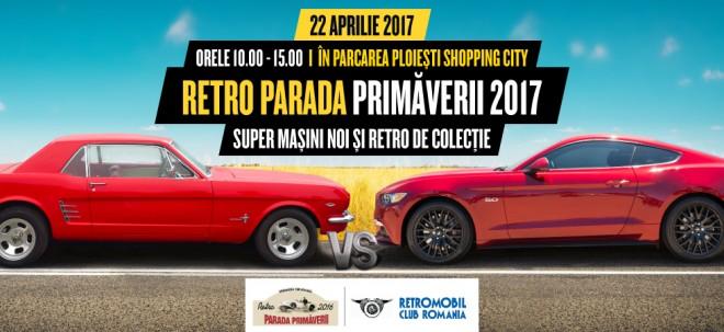 Parada mașinilor retro, la Ploiești Shopping City