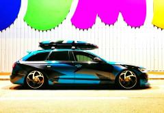 Un ploiestean si-a transformat masina intr-o opera de arta. Alexandru Razvan are cel mai frumos Audi A6 din Prahova!