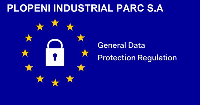Plopeni Industrial Parc S.A. - INFORMARE PRIVIND DATELE CU CARACTER PERSONAL