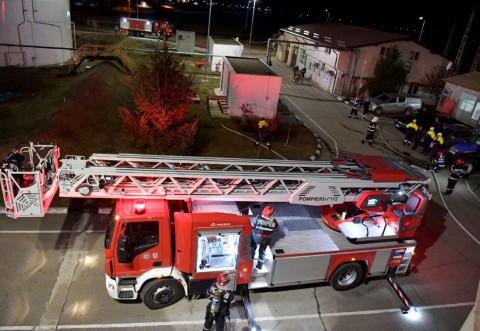 Exercițiu de intervenție pentru stingerea incendiilor stația Băicoi, CONPET S.A.