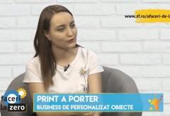 Afaceri de la Zero. Beatrice Voinea personalizează obiecte pentru companii şi clienţi individuali prin businessul Print A Porter şi aşteaptă vânzări de 30.000 de euro în 2019