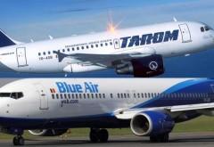 Blue Air a devansat Tarom la numărul de pasageri