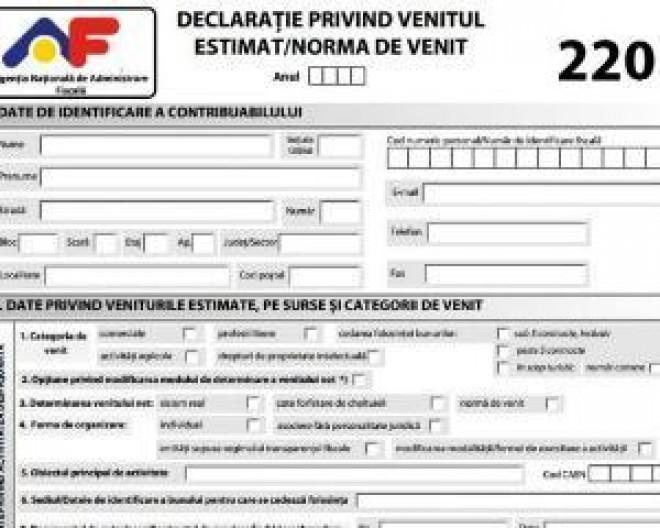 Contribuții sociale PFA 2018: Formularul 220 va fi adaptat la modificările aplicabile din ianuarie