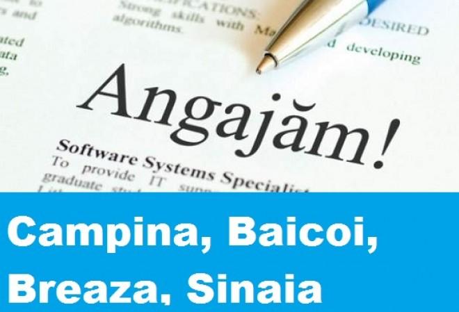 Locuri de munca Campina, Baicoi, Breaza, Sinaia – 14 ianuarie 2015