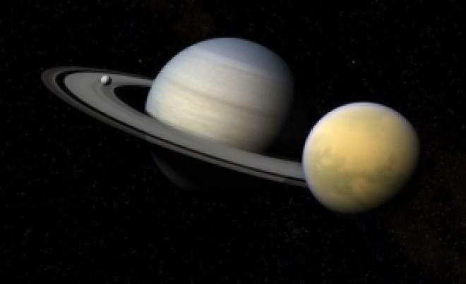 Situație curioasă în spațiu: Titan, cea mai mare lună a lui Saturn, se îndepărtează foarte rapid de planetă