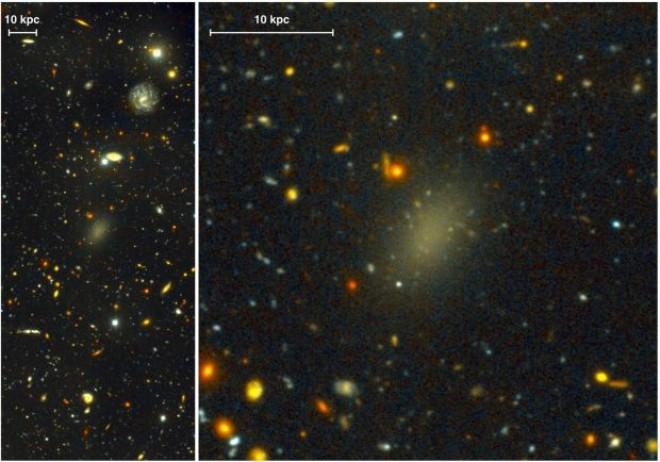 Cercetatorii au descoperit o galaxie ciudata alcatuita aproape integral din materie intunecata