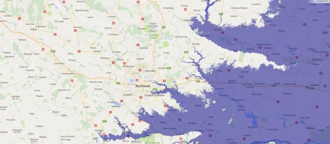 Scenariu apocaliptic: Marea Neagra ar ajunge pana la Bucuresti! Cum ar arata Pamantul daca toata gheata s-ar topi