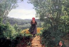 Detaliul surprins intr-o pictura realizata in 1850 a atras atentia pe internet. Ce tine femeia in mana