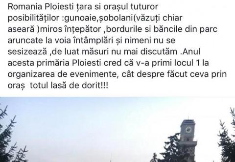 Mizerie de nedescris in Parcul Toma Socolescu, dupa Targul de Toamna
