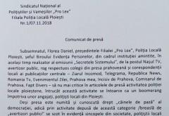 """Sindicatul Pro Lex Prahova, mesaj pentru presa: """"Nu mai criticati activitatea Politiei Locale Ploiesti!"""""""