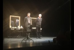 Marcel Iureș și Florin Piersic Jr., pe scena teatrului ploieștean, în ultima seară a Festivalului Toma Caragiu