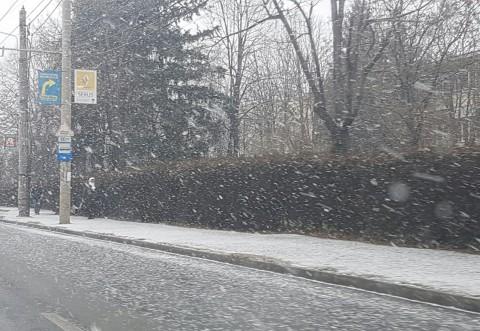 Prima ninsoare la Ploiesti. ROSAL a imprastiat material antiderapant