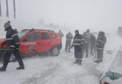 Avertizare de ninsori si viscol in Prahova: Peste 200 de pompieri prahoveni sunt pregatiti sa intervina