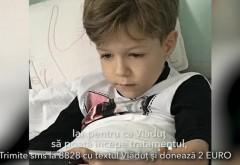 AJUTAŢI-L PE VLĂDUŢ! Apel umanitar: Un băieţel de 6 ani, diagnosticat cu neuroblastom POATE FI SALVAT