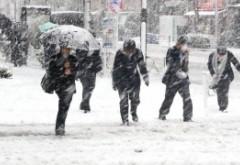 ALERTĂ METEO - AMN anunță ninsori puternice în București si Ploiesti: se va depune un strat consistent de zăpadă