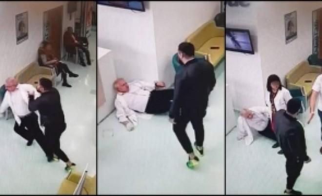 VIDEO - IMAGINI REVOLTĂTOARE: Un medic ginecolog este lovit brutal, pe la spate, de un pacient