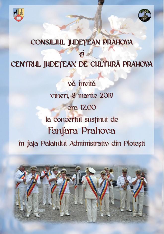 Concert de 8 Martie, in Ploiesti. Consiliul Judetean organizeaza un spectacol cu Fanfara Prahova
