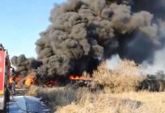Incendiu puternic in Mitica Apostol. Ard CAUCIUCURI