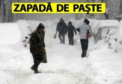 Temperaturi negative de Paște și ninsori ca în toiul iernii în România. Cea mai cruntă sărbătoare pascălă din istoria țării noastre