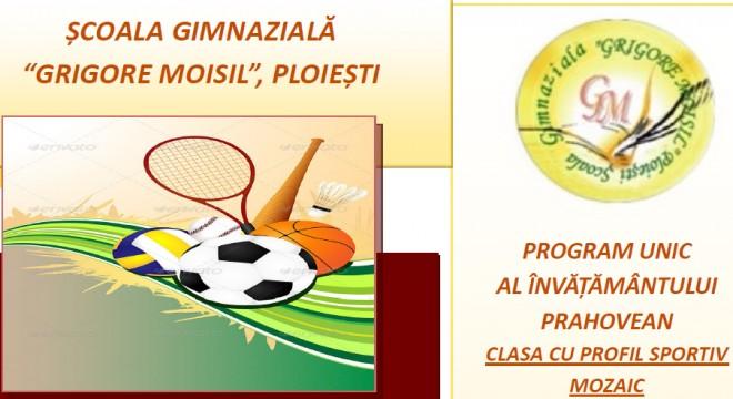 """Scoala gimnazială """"Grigore Moisil"""" Ploiești face înscrieri pentru anul școlar 2019-2020 în clasa a V– a, cu profil sportiv (baschet-înot-tenis)"""