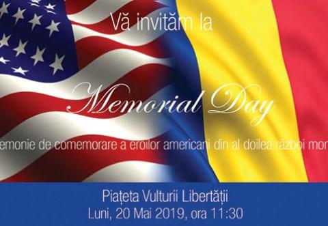 """Ceremonie de comemorare a eroilor americani – """"Memorial Day"""", astazi, la Sinaia"""