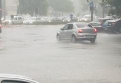 Rupere de nori in Ploiesti. Mai multe străzi au fost inundate