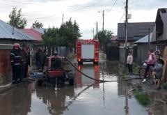 Mai multe locuinte inundate, in Ploiesti. Ploaia torentiala a facut ravagii