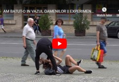 EXPERIMENT SOCIAL făcut de Ciprian Dafinescu, în Ploiești. Zeci de oameni trec indiferenți pe lângă o tânără lovită de iubit