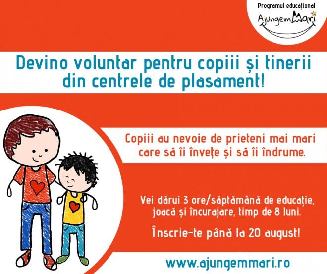 Fii prietenul copiilor din centrele de plasament! Se cauta voluntari in Prahova