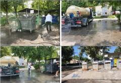PLOIESTI: Campanie de spalare si igienizare a platformelor gospodaresti, in mai multe cartiere