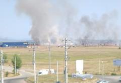 Incendiu in zona Centurii de Vest. Arde o suprafata mare de teren