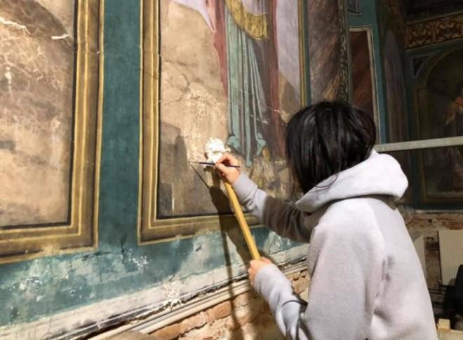 S-a reuşit restaurarea picturii inestimabile a marelui pictor Nicolae Grigorescu și reconsolidarea Mănăstirii Zamfira