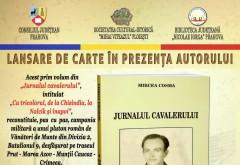"""Lansare de carte la Ploiesti: Primul volum din """"Jurnalul Cavalerului"""" va fi lansat pe 19 septembrie, in prezenta autorului"""