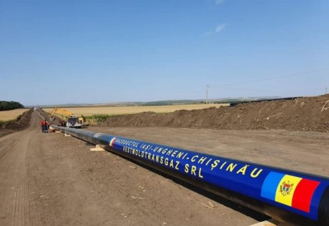 Se lucrează intens pe șantierul gazoductului Ungheni-Chişinău
