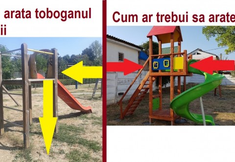 Alo, SGU!!! Toboganele mortii din parcul Nichita Stanescu, la un pas sa faca prima victima! Un copil a cazut in cap, de la inaltime
