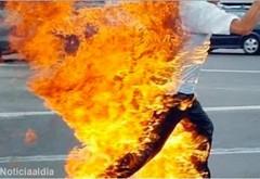 Un bărbat din Ploiești și-ar fi dat foc! Zona în care se afla, cuprinsă de incendiu!